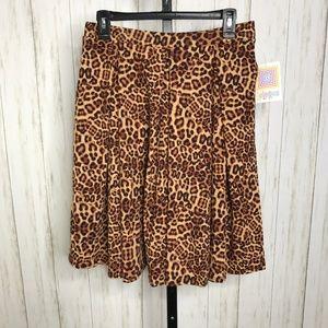 Lularoe Madison A-line Animal Print Skirt M NWT